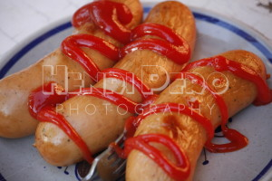 Sausages and Ketchup - Henri Pero Photography