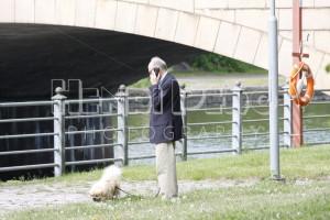 Man Walking with His Dog - Henri Pero Photography