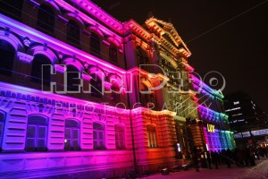 Artistic Lighting on Ateneum at the Lux Helsinki 2016 Festival - Henri Pero Photography