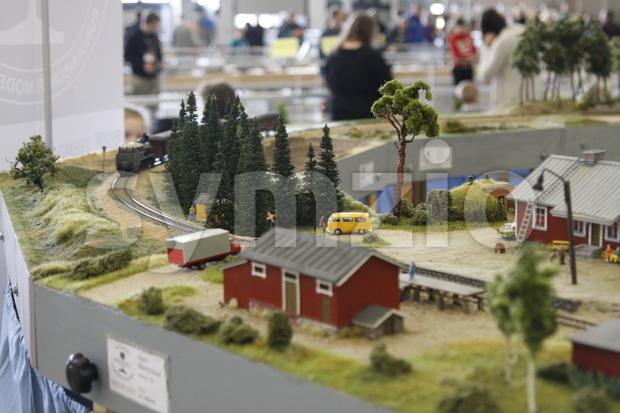 A railroad model in the Model Expo 2014. The Model Expo is the biggest scale model exhibition in the Nordic ...