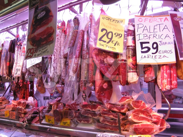 Meat Shop Stock Photo