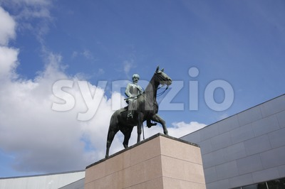 Mannerheim Statue Stock Photo