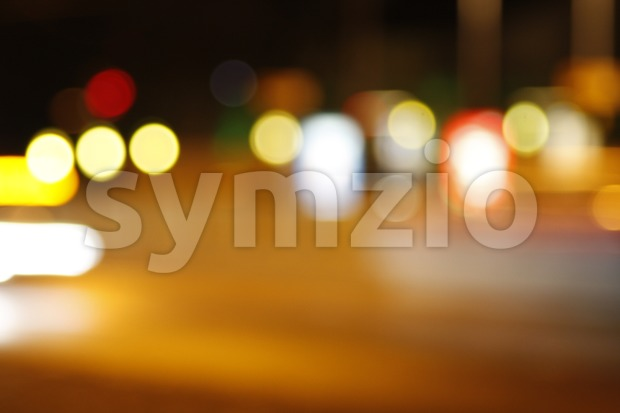 Blurred City Lights Stock Photo