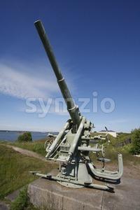 Historic Military Cannon in Suomenlinna Stock Photo