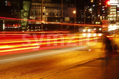 Helsinki City Lights Stock Photo