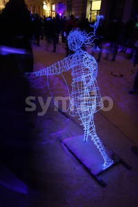 Installation at the Lux Helsinki 2016 Festival Stock Photo