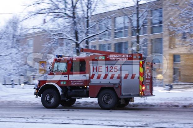 Heavy Rescue Vehicle Stock Photo