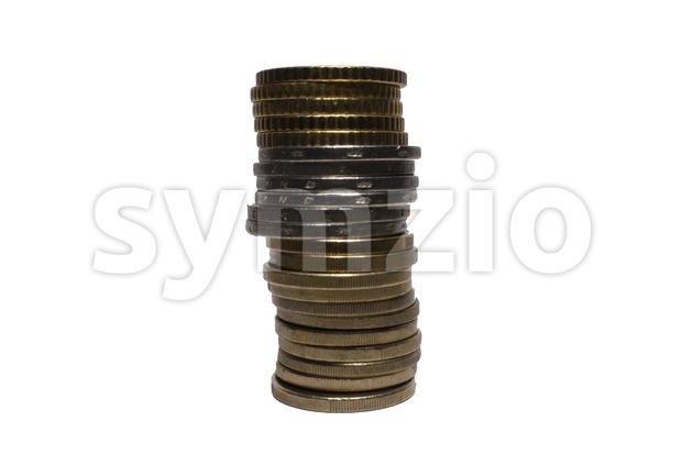 Euro Coin Stack Stock Photo