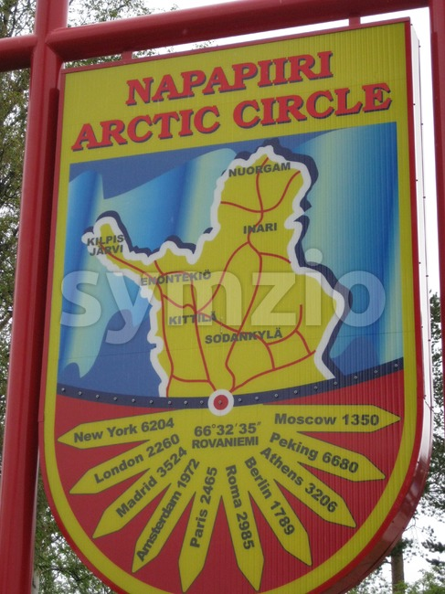 Arctic Circle Stock Photo