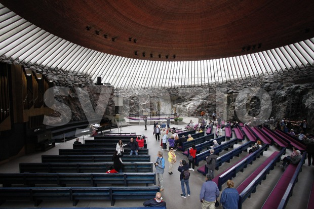 Temppeliaukio Church Inside Stock Photo