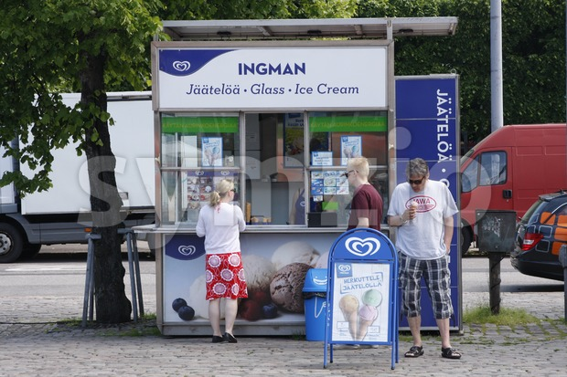 Ice Cream Kiosk Stock Photo