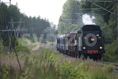 Old Steam Engine Locomotive Stock Photo
