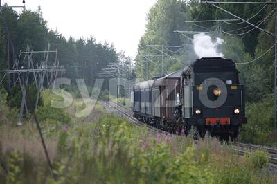 Old Steam Engine Locomotive Stock Photo
