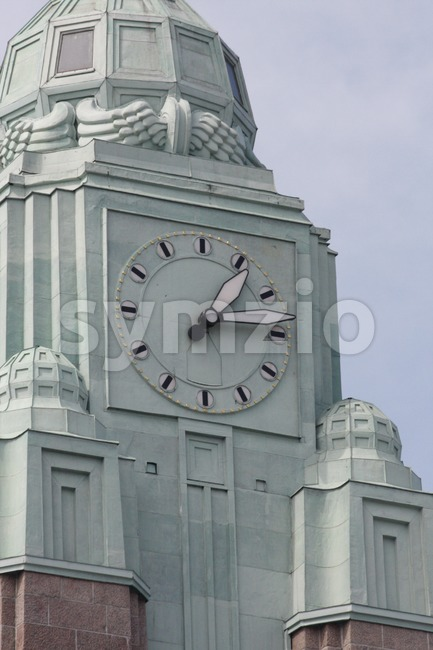 Clock tower of Helsinki Central railway station (Finnish: Helsingin päärautatieasema, Swedish: Helsingfors centralstation) is a widely recognised landmark in Kluuvi, ...