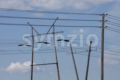 Utility pole Stock Photo